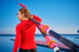 Collegate crew rower and ROTC member shoot for fitness feature